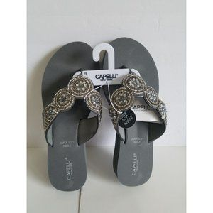 NEW Womens Wedge Sparkle Flip Flops Shoes 10